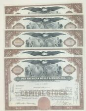 1950's Pan American Pan Am Airlines Share Stock Certificate Wholesale Lot (5)