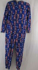 Doctor Who TARDIS Design Adult Fleece Hooded Jumpsuit Size M     a4