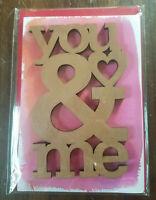 VALENTINES Greeting Card **SIGNATURE** origami Love gf bf fiance anyone HALLMARK