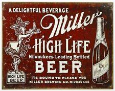 Miller High Life Beer Vintage Retro Tin Metal Sign 13 x 16in