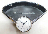 1955 1956 chevy belair 210 150  speaker bezel  chevrolet emblem & new clock #5