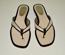 NIB Banana Republic sz 8 natural texture weave prima signature flip flop sandals