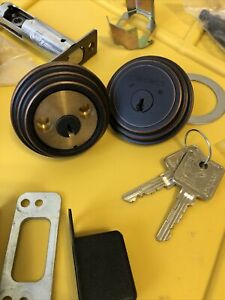 medeco m3 commercial double sided deadbolt, unpinned with 2 keys (item 3)