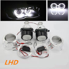 "2.5"" Weiß Angel Eye Set H1 H4 HID Bi-Xenon Projektor Linse Scheinwerfer LHD Auto"
