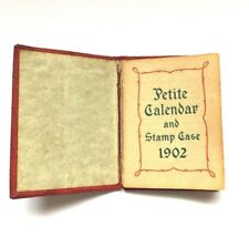 1902 Calendar Stamp Case Manufacturers Trust Co MTC Investment Providence RI