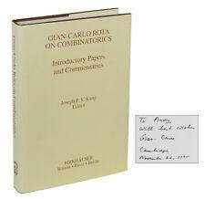 GIAN-CARLO ROTA on Combinatorics ~ SIGNED First Edition 1995 Andrew Gleason Math
