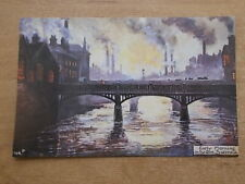 BYGONE SHEFFIELD POSTCARD - EARLY MORNING ON THE DON - SHEFFIELD