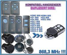 Hörmann HS1, HS2, HS4, HSE, HSM kompatibel handsender 868,3MHz, KLONE, ERSATZ