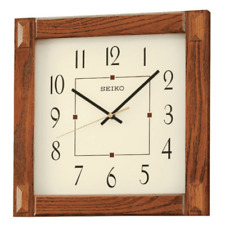 *BRAND NEW* Seiko Mission Style Wooden Wall Clock QXA469BLH
