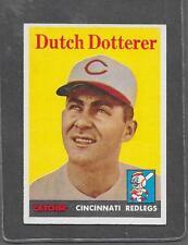 1958 Topps Baseball #396 Dutch Dotterer EX-MT *6294