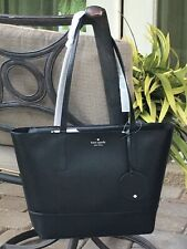 KATE SPADE BRIEL LARGE TOTE SHOULDER BAG BLACK LEATHER LAPTOP $329