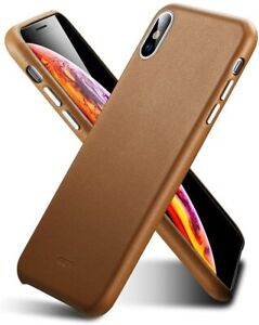 ESR Premium Luxury Oxford Leather Case Cover for Apple iPhone XR Brown
