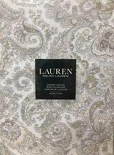 Ralph Lauren TARA PAISLEY NATURAL Shower Curtain 100% Cotton 70 X 72 NIP