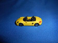 Yellow Mini Porsche 981 Boxster Convertible Plastic Kinder Surprise Toy Vehicle