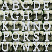Wooden Letters White Wood Words Name Alphabet Bridal Wedding Birthday Home Decor