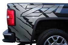 "Vinyl Graphics Decal Wrap for 2014-17 GMC Sierra ""Z71"" Rear Quarter Panel SILVER"