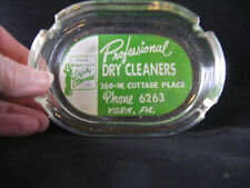ASHTRAY YORK PA PHONE 6263 PROFESSIONAL DRY CLEANERS COLLECTIBLE EARLY AD