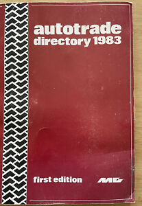 AUTOTRADE DIRECTORY-FIRST EDITION-1983-RARE inc BUYERS GUIDE + MUCH MORE