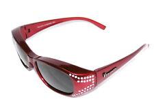 Figuretta Sonnen Überbrille UV400 Polarisiert rot Strass TV Werbung