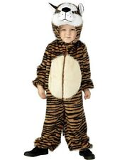 Childrens Fancy Dress Tiger Costume Girls Boys Kids Suit S 4-6 Years New Smiffys