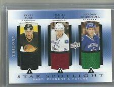 2013-14 Trilogy Hockey 3 Star Spotlight Canucks Bure-Sedin-Schroeder Triple Mem