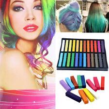 24 Colour Temporary Salon Hair Colour Dye Chalk Soft Pastel Set Kit Men Women