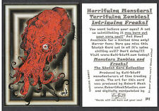 PROMO CARD: MONSTERS ZOMBIES FREAKS Cult-Stuff #P1 RED GLITTER VERSION