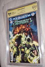 Green Lanterns #1 Rebirth CBCS SS 9.6 Signed Robson Rocha CGC
