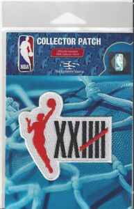 """2021 WNBA 25th Anniversary Patch with Icon 3"""" x 2 3/4"""" Sew Iron On Official Logo"""