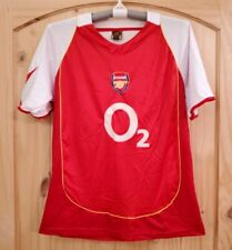 London Arsenal Soccer Jersey Fc Football Club O2 Red Shirt Cappuccino Size L