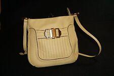 B. Makowsky Pebbled Yellow Leather  Shoulder Crossbody Handbag