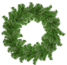 18'' Tinsel Christmas Wreath Alpine Green Hand-Made Artificial PVC