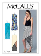 McCall's M7393 Misses' Tie-Front, High-Low, Side-Slit or Seam Detail Skirt 16-26