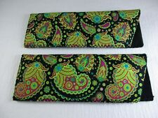 ~LOT of TWO~ Neoprene Soft Sided Slip-In Reading Eyeglass Cases Pouch  A79