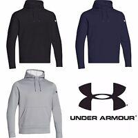 Mens Under Armour Hoodie UA Storm Fleece Sweatshirt Pullover S Grey 1261176