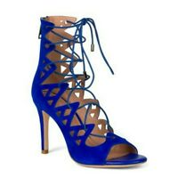 NWOT Joie Colbalt Blue Lace Up Heels