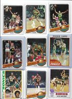 Seattle SuperSonics 1978-79 NBA Championship Team Lot of (12) DJ Gus Fred Sikma