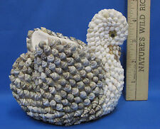 Vintage Shell Art Swan Candle Pencil Holder Planter Kitschy Nanco Nancy Sales Co