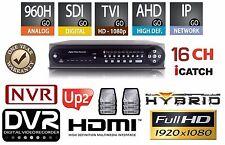 16 Channels Hybrid Security 1080P DVR/NVR HD-SDI/TVI/AHD/960/IP/Cloud