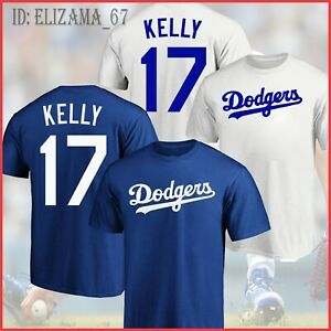 SALE!! Joe Kelly#17 Los Angeles Dodgers Name & Number T-Shirt All Size
