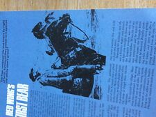 T1-2 ephemera  1960s article red wing's first bear w price