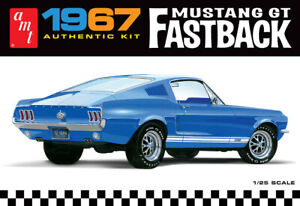 AMT1241 Plastic Model Kit  67 Ford Mustang GT Fastback Brand New 1/25 Scale