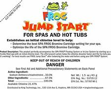 2 Pack Spa Frog 01-14-6012 Hot Tub Mineral Jump Start Shock Chlorine Packets