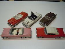 5 x seltene Cadillac Modelle von Solido und Vitesse 1:43