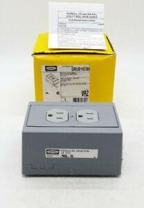 Hubbell DRUB15CB5 DIN Rail Utility Box w/ Circuit Breaker