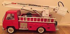 Vintage Buddy L Toy Snorkel Pumper Fire Truck (1960's), Pressed Steel