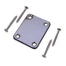 Chrome Neck Joint Plate & Screws for Electric Guitar Strat Tele Les Paul