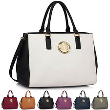 Womens Faux Leather Shoulder Bags Ladies Handbags Designer Style Extra Large New