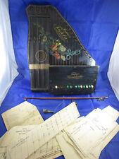 Rarität Accord- Zither Konzert-Zither Zupfinstrument Fischers Mandolinette Bogen