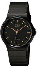 Casio MQ-24-1E Analog Watch Black and Gold Classic Resin Band NEW